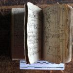 Ältestes Geschäftsbuch der Firma Christian Gotthelf Brückner, dat. ab 24. Juni 1789 (s. Vor.), aufgeschlagen (Mus. Burg Mylau).