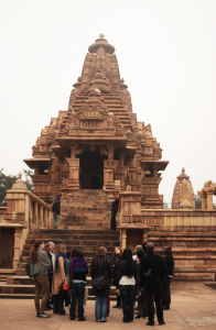 The Art Histories and Aesthetic Practices Travelling Seminar at the ca. 950 CE Lakshmana temple, Khajuraho, January 30, 2014