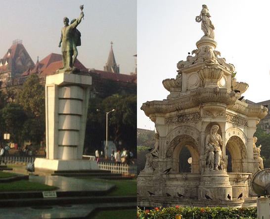 Hutatma Chowk Memorial and Flora Fountain by Neeraj Pattath / CC BY-SA 3.0