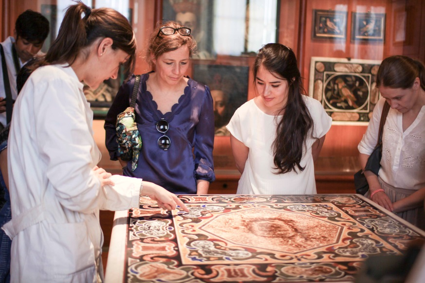 The Art Histories group at the Opificio delle Pietre Dure on July 7th, 2014.