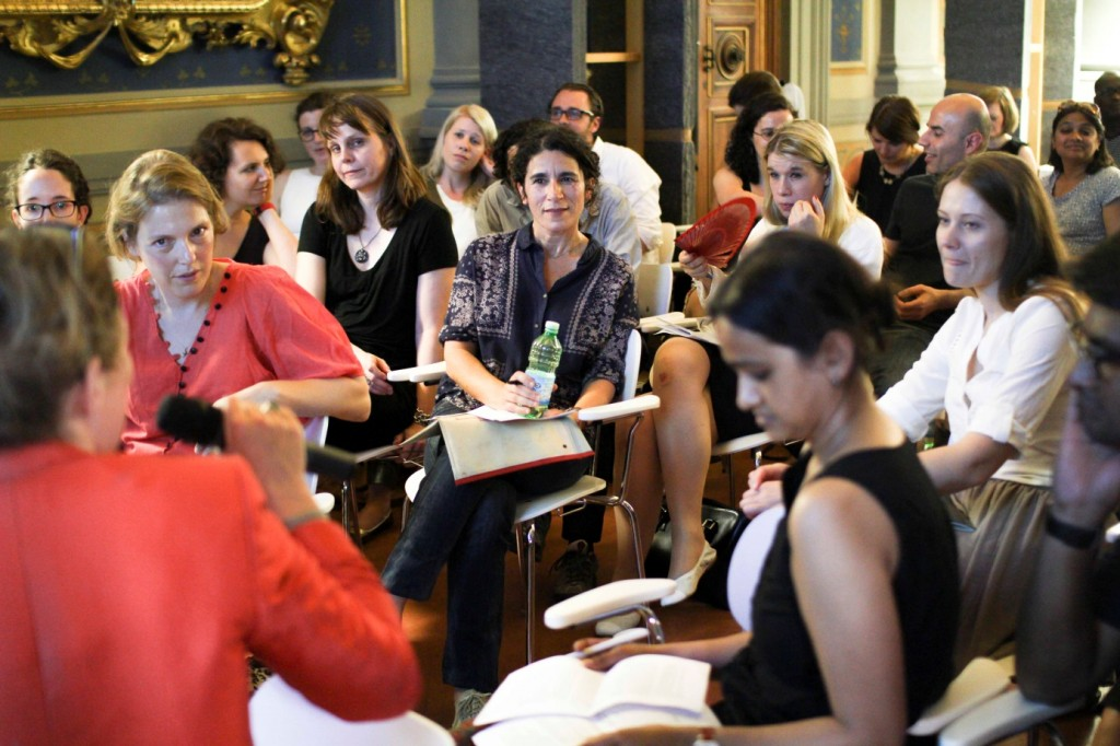 Discussion during the Art Histories Presentation at the Kunsthistorisches Institut Florenz, Max-Planck-Institut, Palazzo Grifoni on July 7th, 2014.