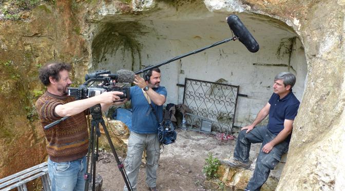 Tournage d'un documentaire sur le Néolithique des marais de Saint-Gond