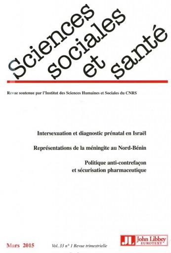 Sciences Sociales et Santé  Volume 33, Numéro 1, mars 2015
