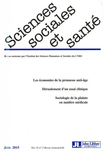Sciences Sociales et Santé    Volume 33, Numéro 2, juin 2015