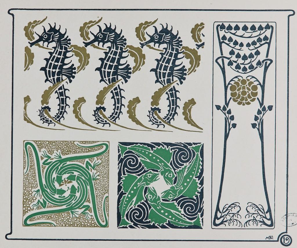 Combinaisons ornementales par M.P. Verneuil, G. Auriol, Mucha