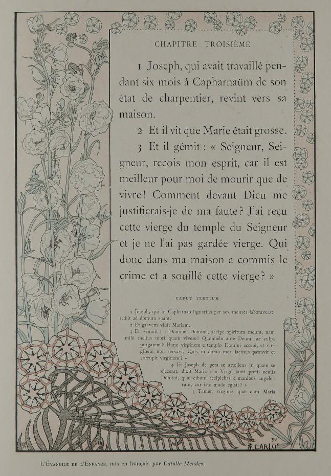 L'Évangile de l'enfance selon Saint Pierre. Illustration de Carlos Schwabe.