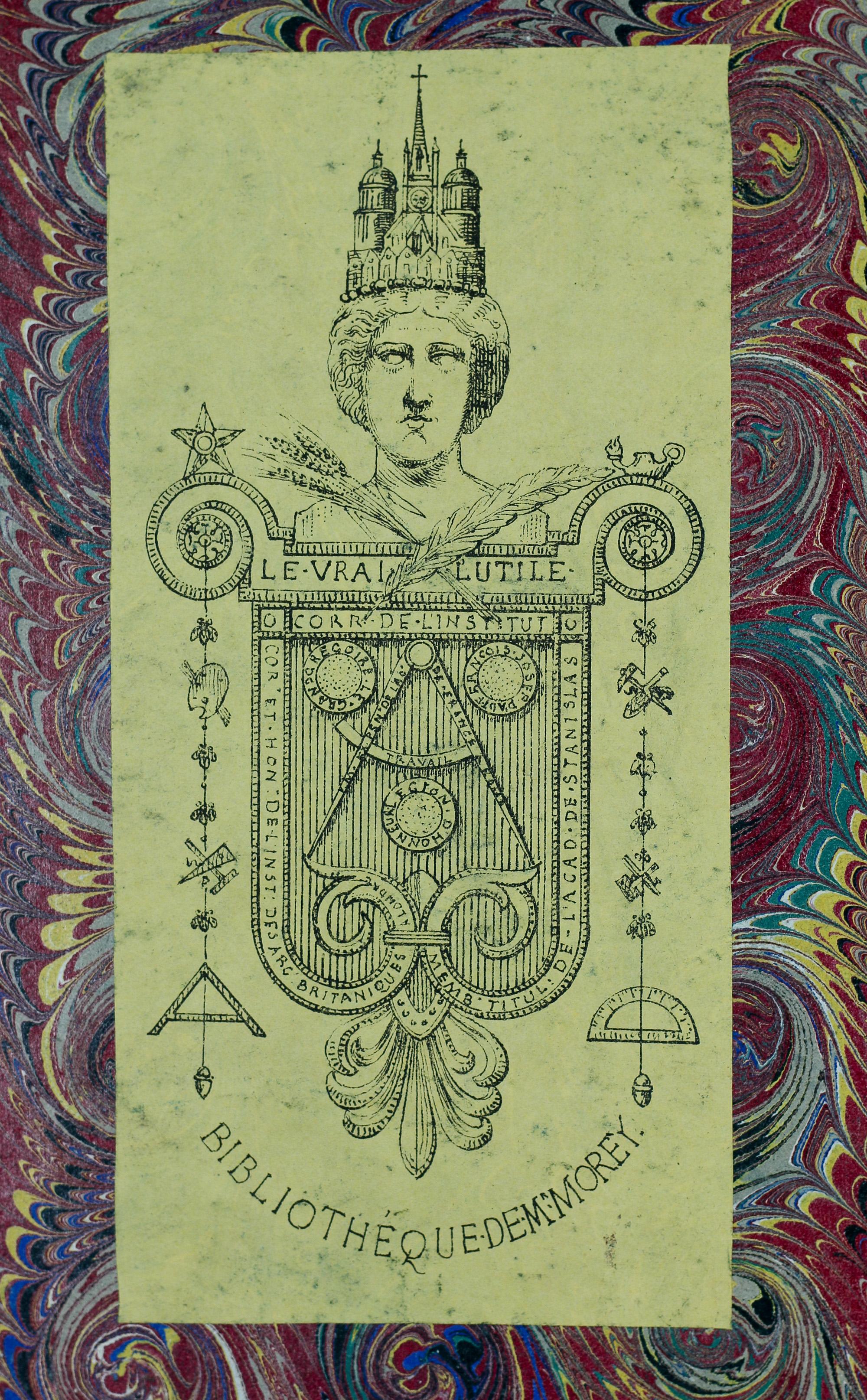 Ex-libris de Propser Moray dans Perspective contenant la théorie et pratique d'icelle, Samuel Marolois