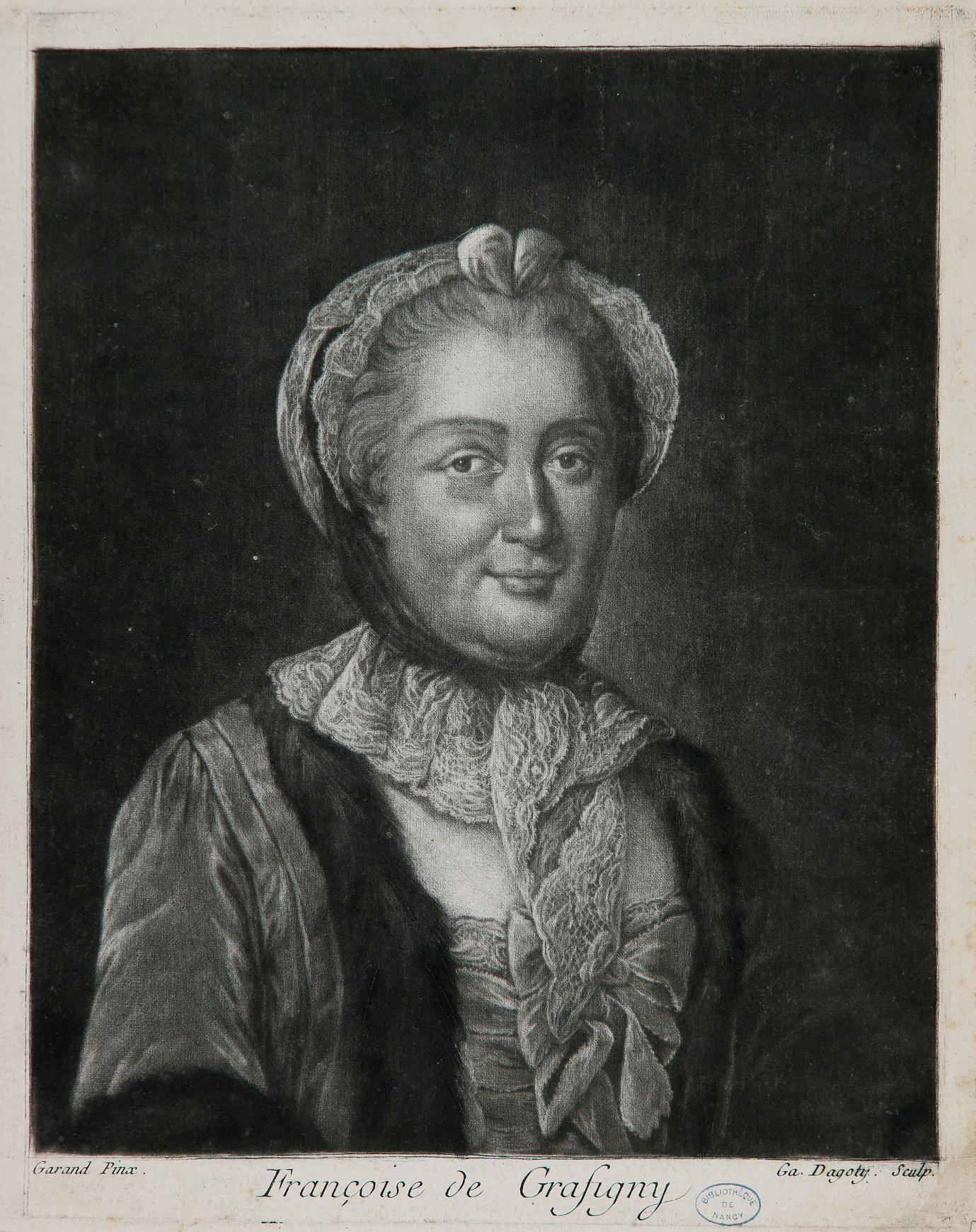 Mme de Graffigny, par D'Agoty d'après Garand.