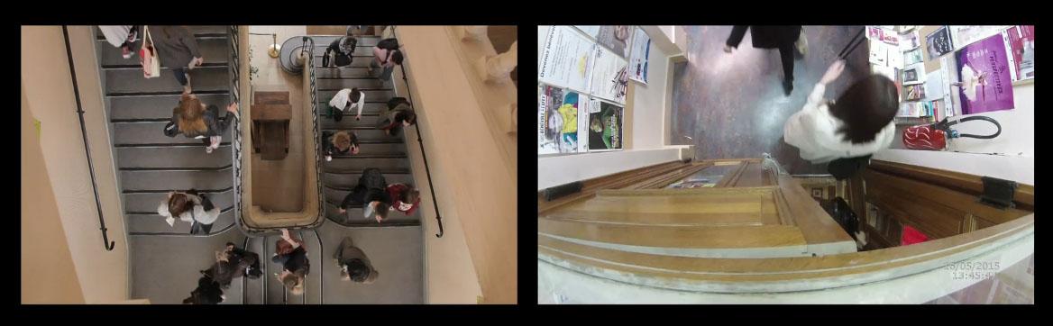 L'entrée des étudiants le samedi (photogramme tiré de la vidéo)