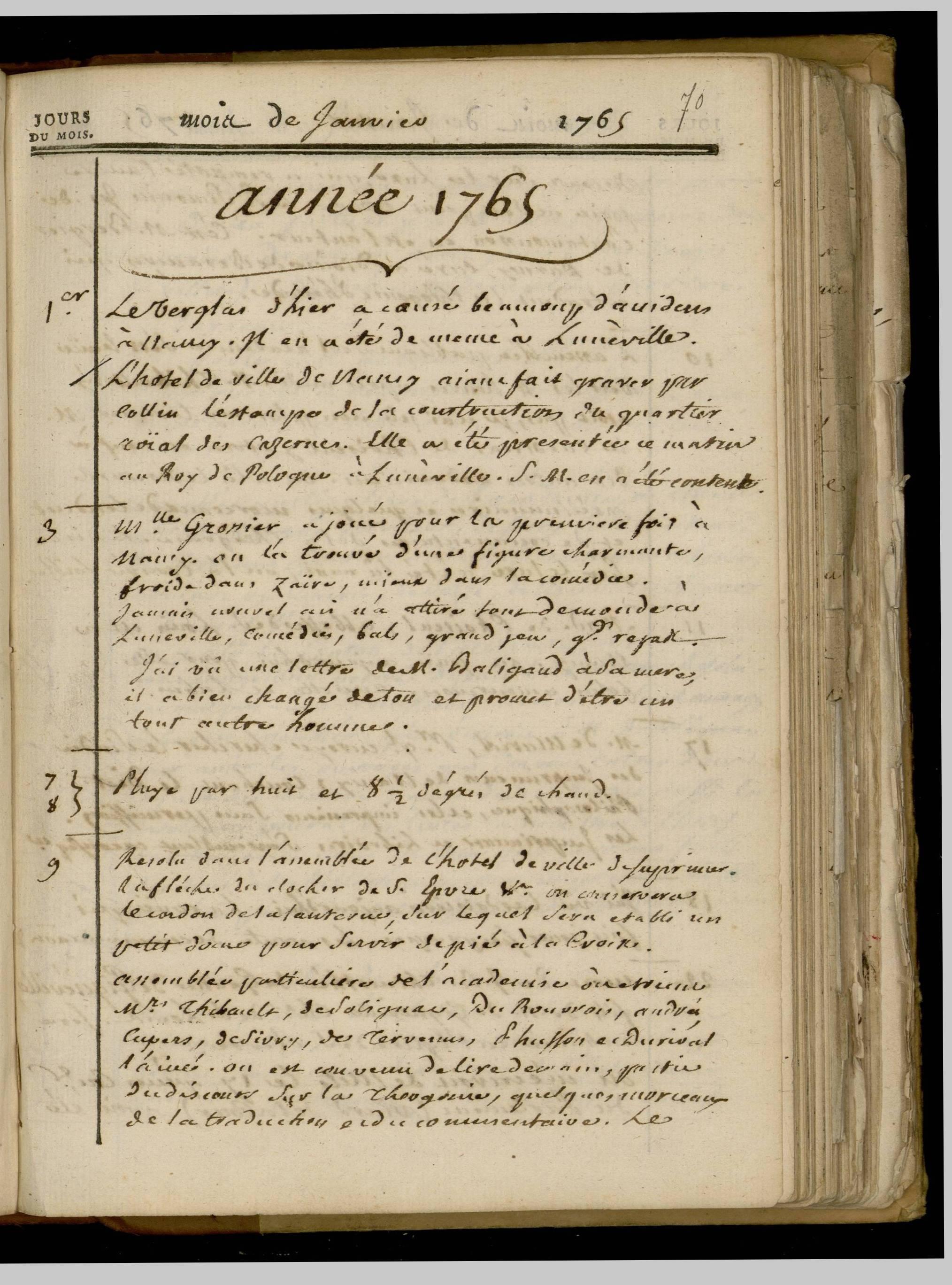 Journal de Durival, 1er janvier 1765