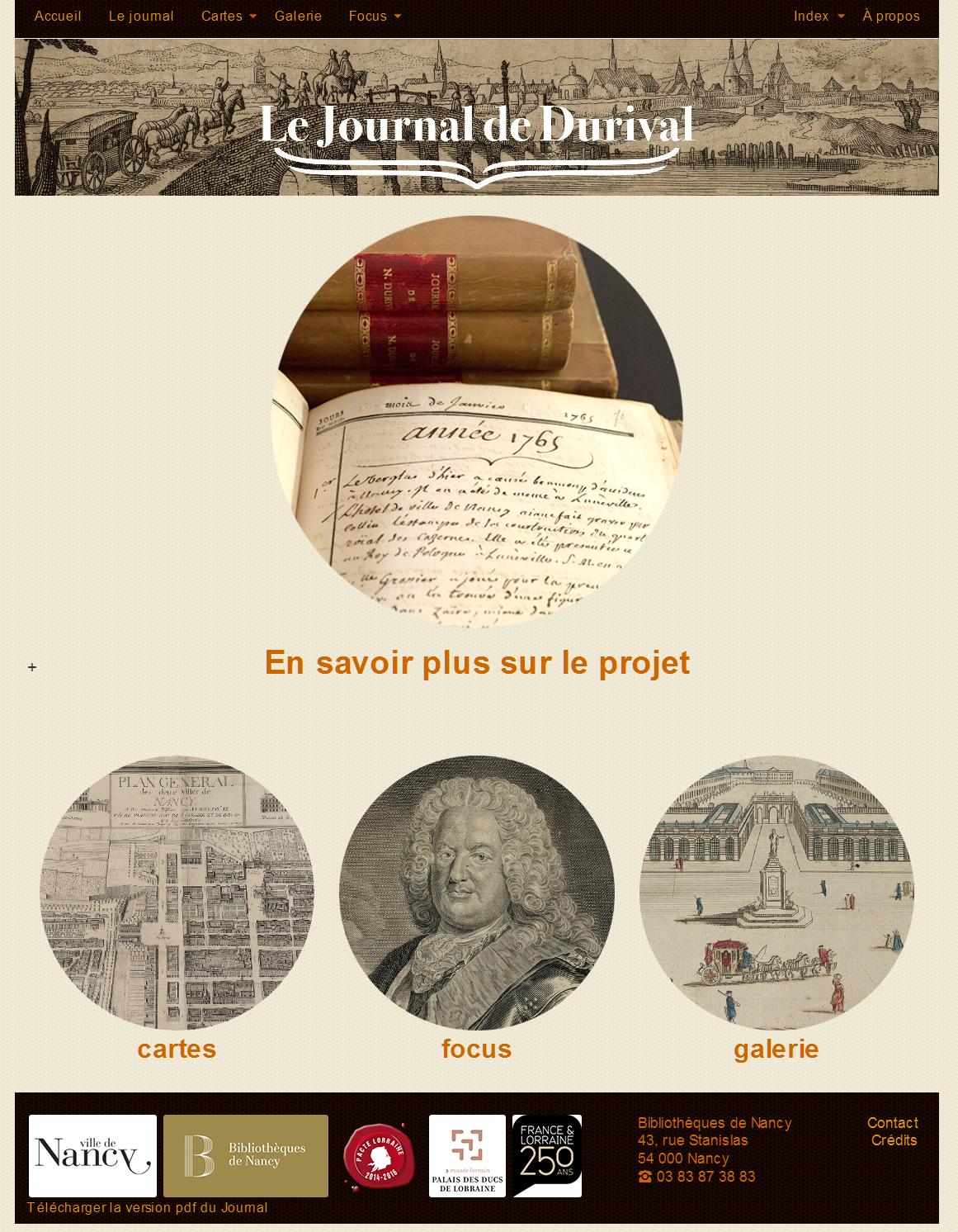 Page d'accueil du Journal de Durival en ligne
