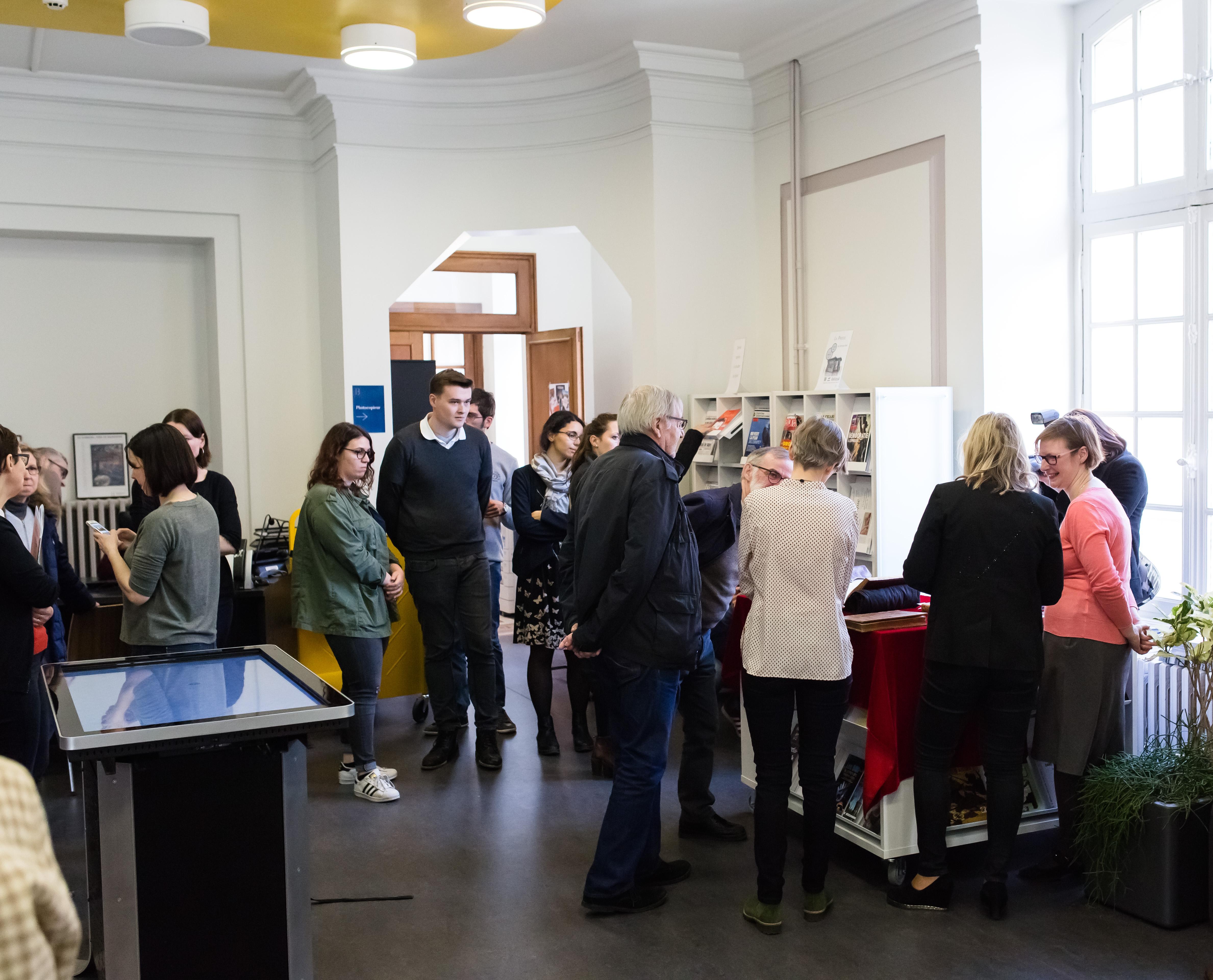 L'accueil de la Bibliothèque Stanislas lors de la présentation d'une nouvelle acquisition