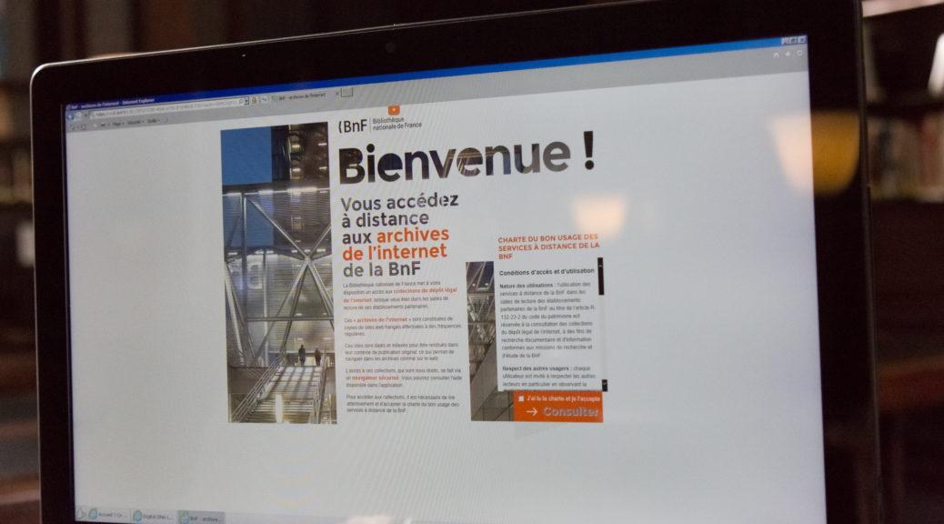 Ecran d'accueil du site du DL du web