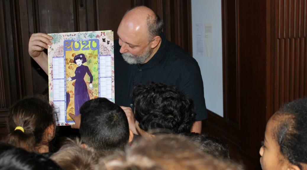 Remise des calendriers à la Bibliothèque Stanislas