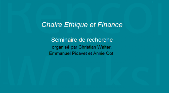 La financiarisation de l'assurance / The financialization of the insurance industry