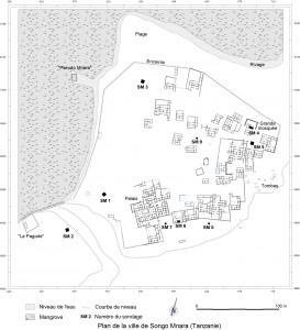 Songo Mnara Map