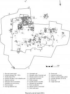 Plan Gedi ruins