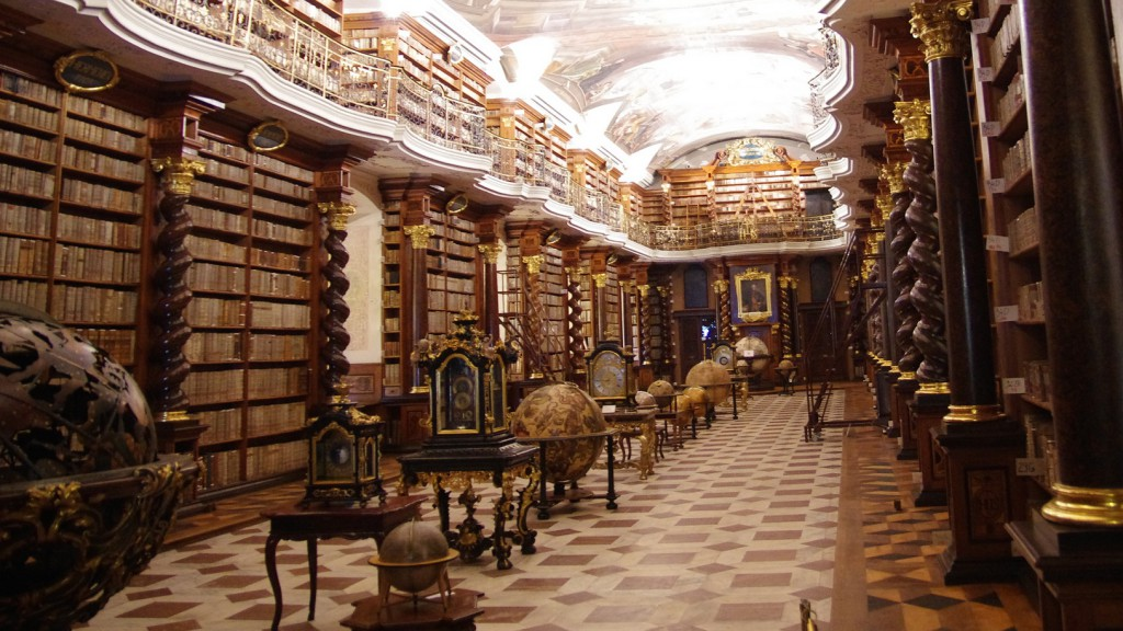 Bibliothèque du Clementinum, Prague (République tchèque). Photo de jlfaurie sous licence CC BY 2.0