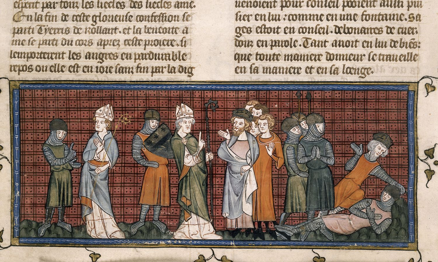 Chroniques de France ou de Saint-Denis (BL, Royal 16 G VI, f. 180v. )
