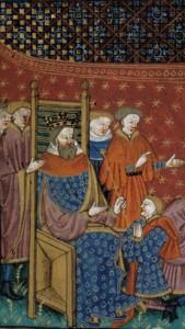 BL : ms; Royal 15 E VI (ms. dit «The 'Talbot Shrewsbury book»), f. 86, France (Rouen), 1444-1445, Chanson d'Ogier
