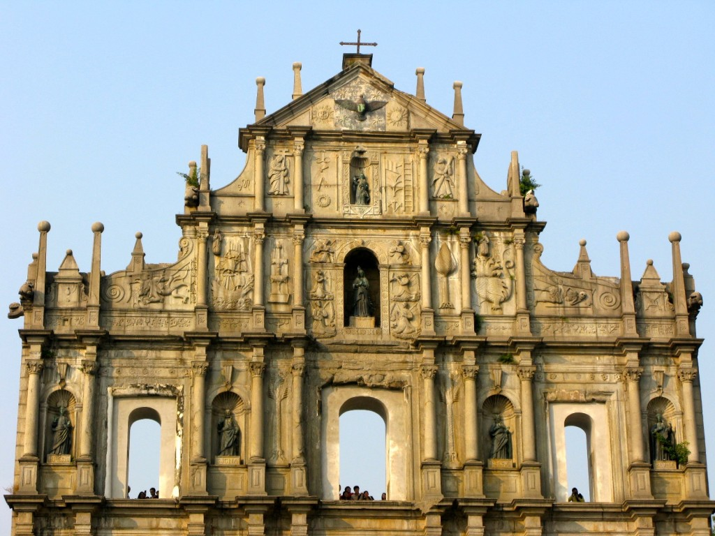 Ruines de l'église Saint-Paul, Macao (République populaire de Chine), photo de Wyliepoon sur Flickr, 2007