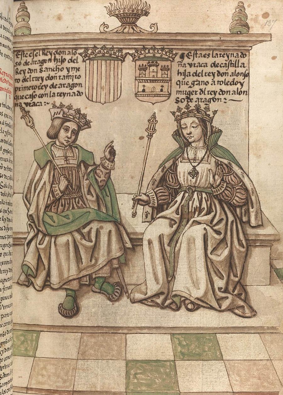 Sancho de Aragon et Urraca de Castille, La Cronica General de España (tercera parte), BL, ms. Egerton 289 f°137