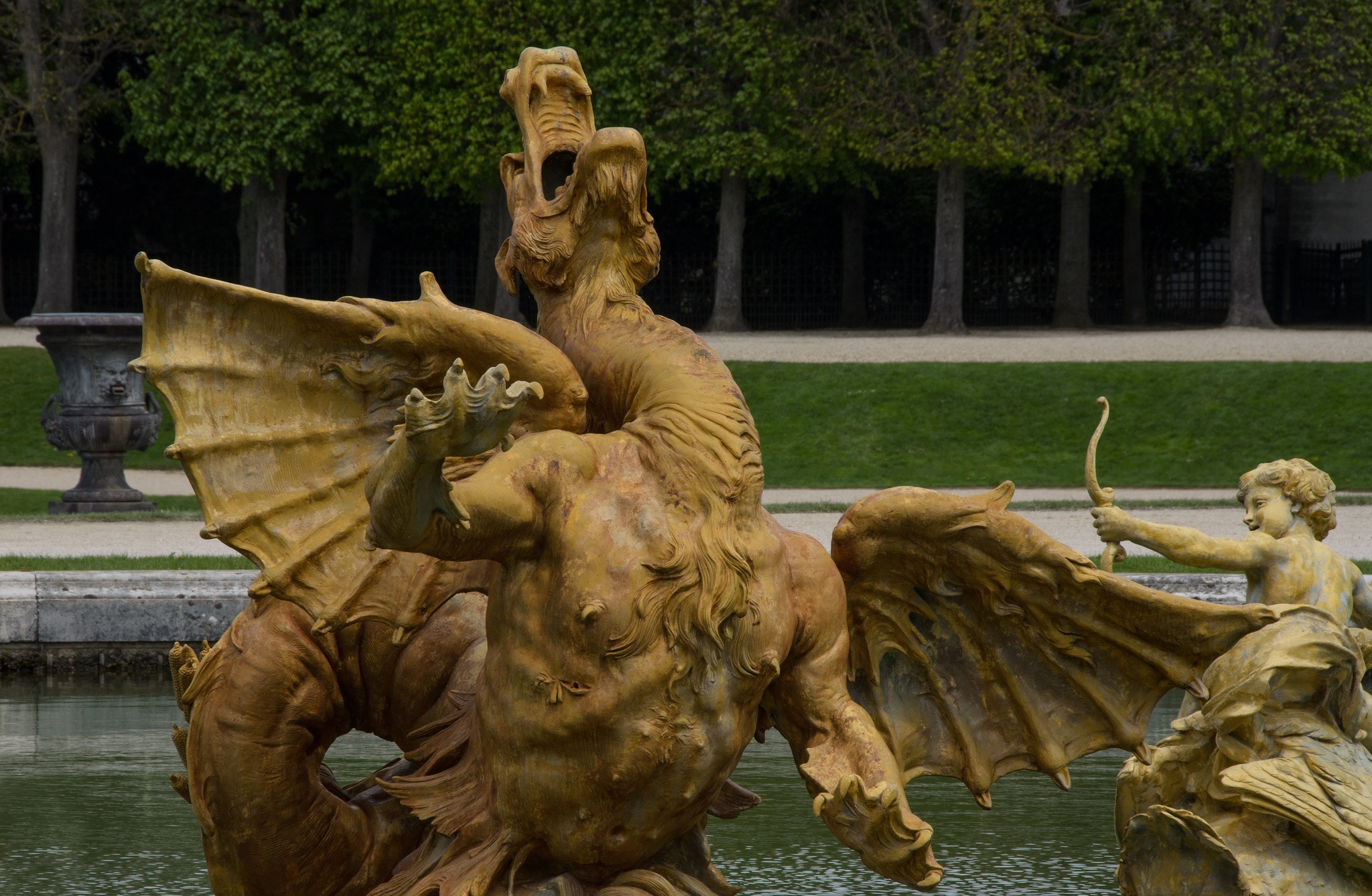 Fontaine du Dragon, Château de Versailles (France), photo de Bastiaan_65 sur Flickr, 2012