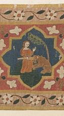 Einhornszene des Malterteppichs, © Augustinermuseum - Städtische Museen Freiburg, Malterer-Teppich, um 1320, Leihgabe der Adelhausenstiftung Freiburg, Foto: Hans-Peter Vieser