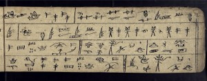 BULAC ms.chi.naxi 6, fol. 4r. Pictogrammes dongba