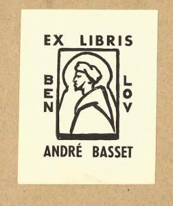 L'ex-libris d'André Basset.