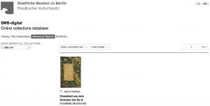 SMB-digital / Online collections database (recherche)
