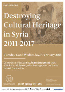 affiche conference destroying cultural heritage in syria