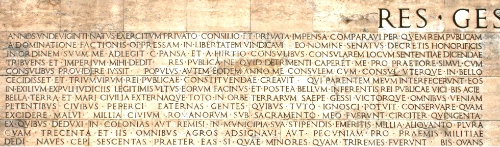 Inscriptions romaines 2 res gestae le rapport moral et financier d auguste la - Res gestae divi augusti pdf ...