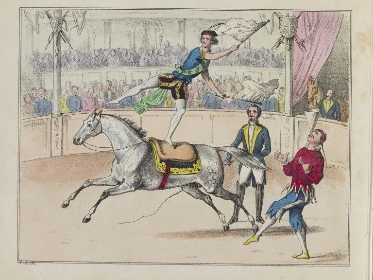 Lithograph, coloured by hand, artist unknown, mid 19th century. Victoria & Albert Museum.