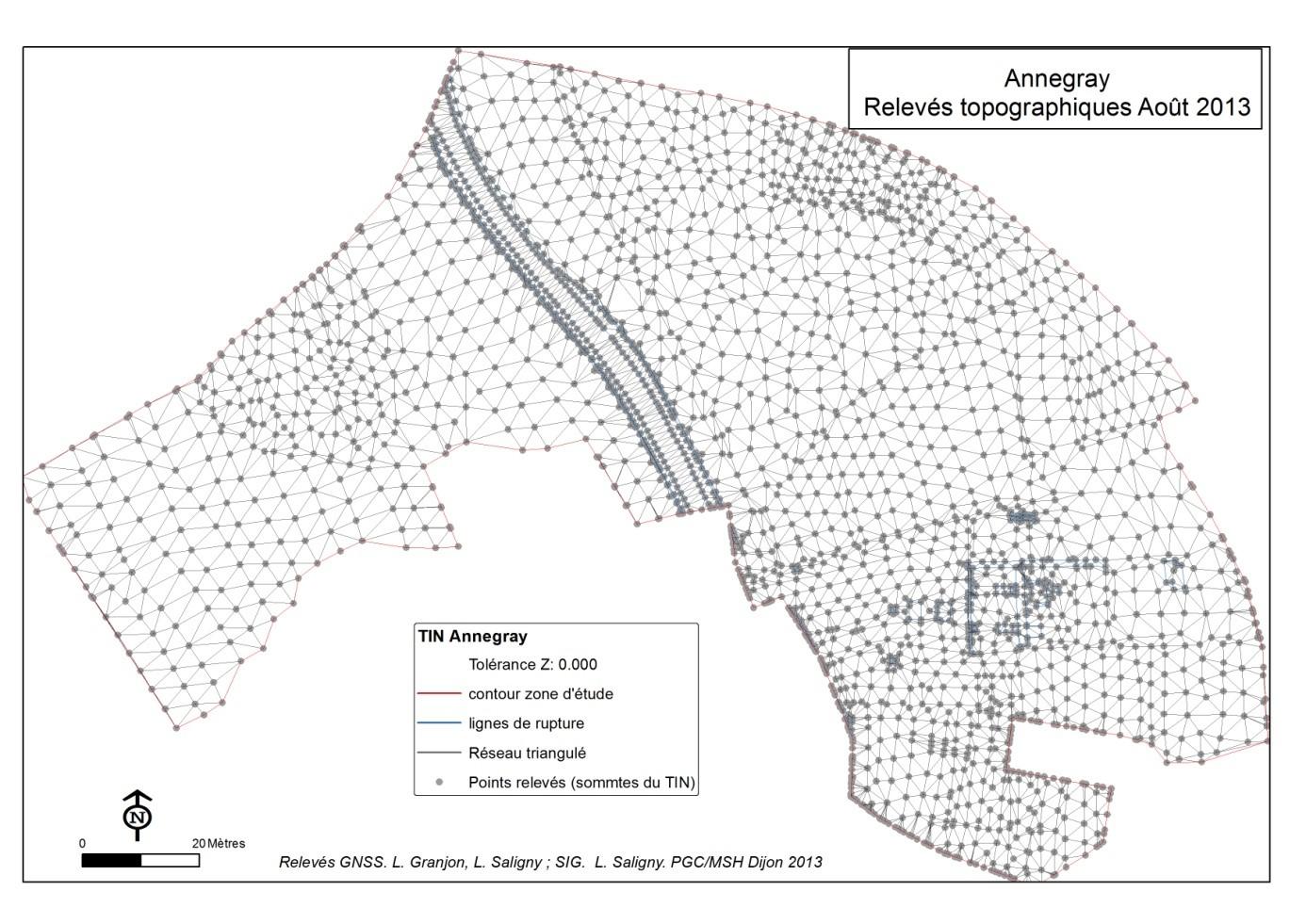 La Production du TIN (Triangular Irregular Network)