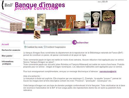 Banque images bnf