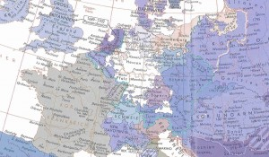 Europakarte um 1740
