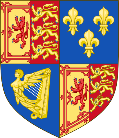 Royal Coat of Arms England 18th century after Act of Union