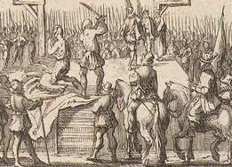 Dutch print public beheading_detail