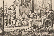 Dutch print_priest praying with convict_detail