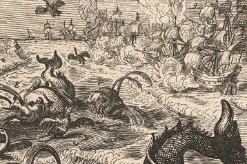 Dutch print_sea monster_detail