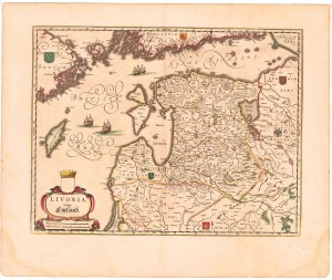 Livonia, map of the Baltic region edited by Willem and Joan Blaeu, 1645, (c) public domain, wikimedia