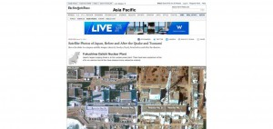 """""""Satellite Photos of Japan, Before and After the Quake and Tsunami"""", NYT, 15 mars 2011"""