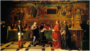 Galilée devant le Saint-Office au Vatican, par Joseph-Nicolas Robert-Fleury, 1847.