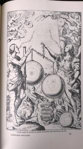 La balance cosmique d'Uranie. Capture d'une illustration fac-similé gravure d'une édition également fac-similé de l'Astronomie populaire du poète céleste Camille Flammarion (Paris, Flammarion, 1880) (photographie par Arnaud Saint-Martin)