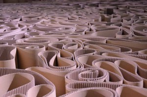 Labyrinthe de carton, par Michelangelo Pistoletto (copyright : Bruno Parmentier, 2012, via Flickr)