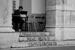 Mobilisation : 'le monde est a nous. Rêve, révolte, esprits critiques'. vers l'université Lyon 2, 2009 (Copyright : mafate69, via Flickr)