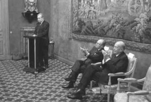Spectateurs impartiaux. Discours de Raymond Boudon à l'Institut de France (repris pour partie dans Le Rouet) lors de la remise du prix Tocqueville qu'il vient de recevoir, en présence des confrères Gabriel de Broglie et Valéry Giscard d'Estaing, 9 février 2009 (source : canalacademie.com)