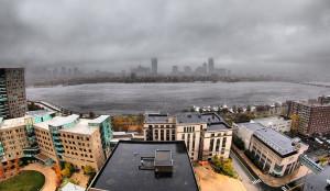 La tempête Sandy passant à Boston, le 29 octobre 2012 (crédits : Ehsan Hoque, via Flickr)