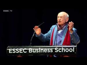 Serial keynote speaker. Conférence de lancement de la chaire Edgar Morin de la complexité, 11 mars 2014, ESSEC (crédits : http://article.wn.com/)
